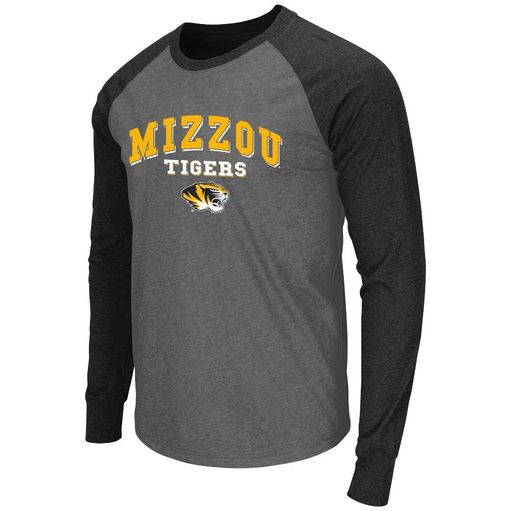 Mens NCAA Missouri Tigers Long Sleeve Tee Shirt (Charcoal)