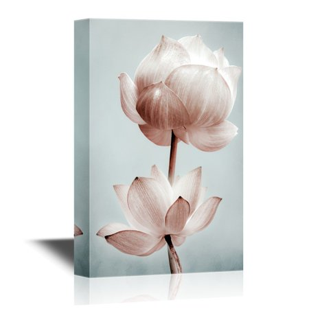 wall26 Canvas Wall Art - Lotus Flower Petals - Gallery Wrap Modern Home Decor   Ready to Hang - 32x48 inches