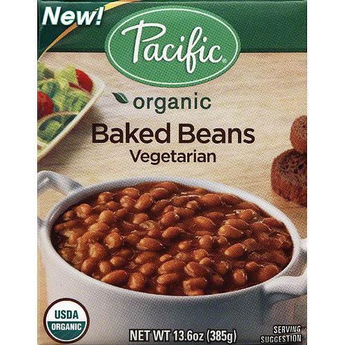 Pacific Organic Vegetarian Baked Beans, 13.6 oz, (Pack of 12)
