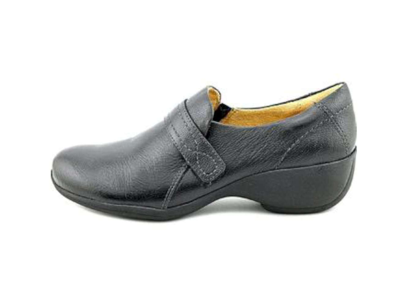 Naturalizer Womens Josefa Leather Closed Toe Clogs by Naturalizer