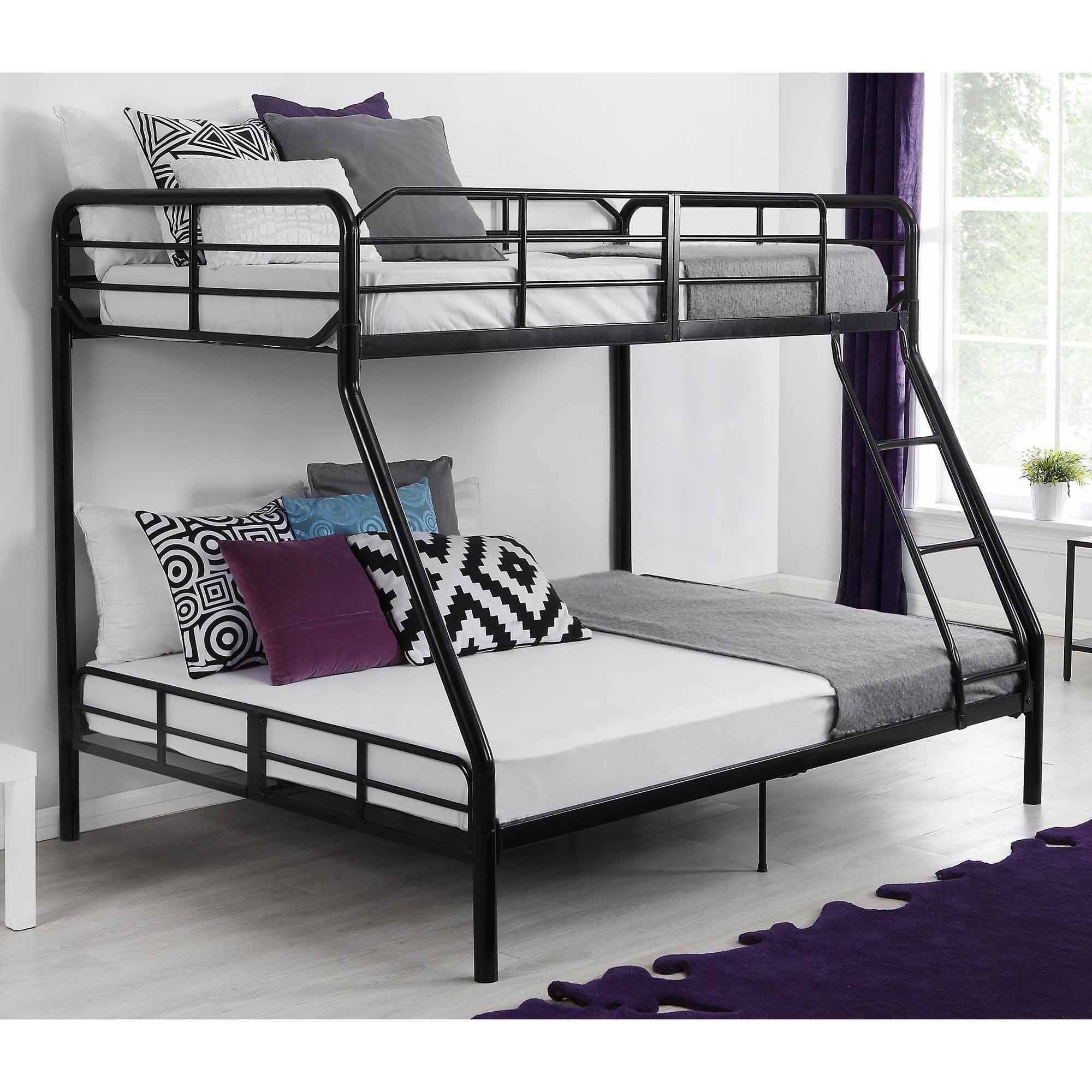 Mainstays Twin Over Full Metal Sturdy Bunk Bed, Black - Walmart