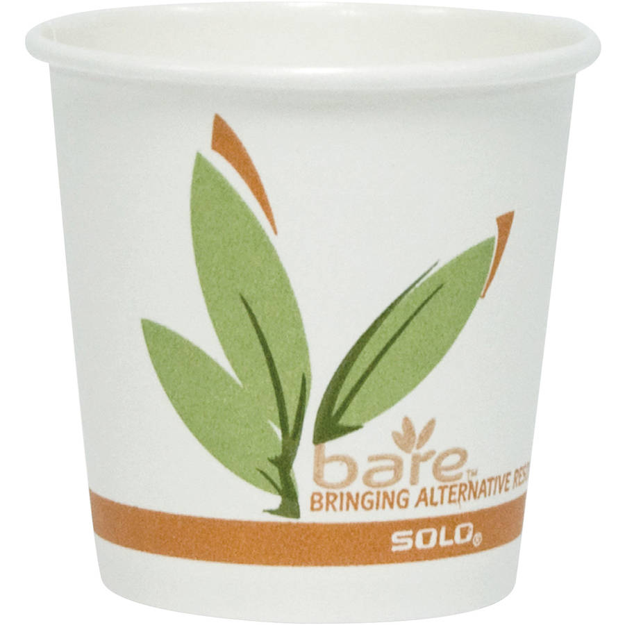 Solo Cup Company Bare Eco-Forward Recycled Content PCF 4 oz. Hot Cups, 1000 count