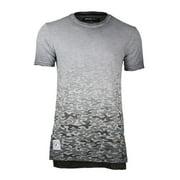 ZIMEGO Men's Short Sleeve Drop Tail Longline Hiphop Curved Hem Fashion Shirts