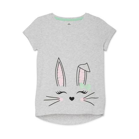 Easter Girls Short Sleeve Graphic T-shirt, Sizes 4-18 Girls Short Sleeve Tee