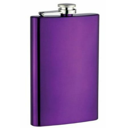 8oz Stainless Steel Hip Flask, Purple Matte Stainless Steel Flask
