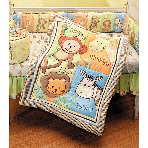 Summer Infant Monkey Jungle 3-Piece Crib Bedding Set with BONUS Bumper