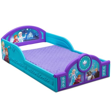 Disney Frozen Plastic Sleep and Play Toddler Bed by Delta Children - Toddler Bee
