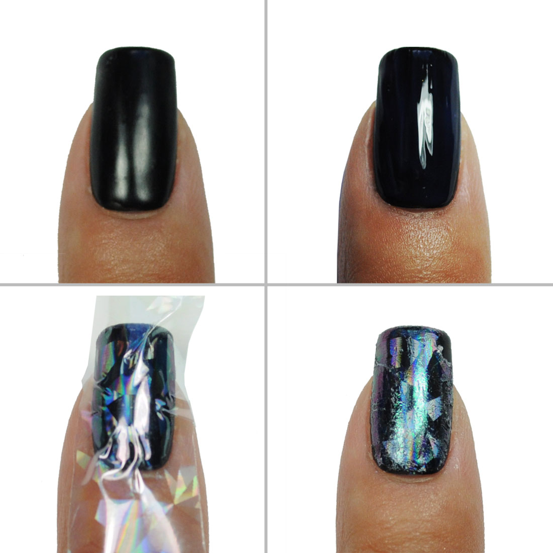 Clear Holographic Nail Art Foils - 6 Stripes with Glue - Walmart.com