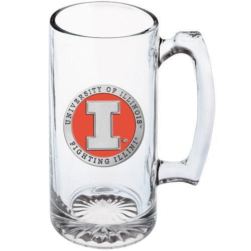University of Illinois Glass Beer Super Stein