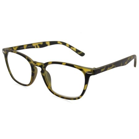 able vision r99148 reading glasses yellow/tortoise 2.5