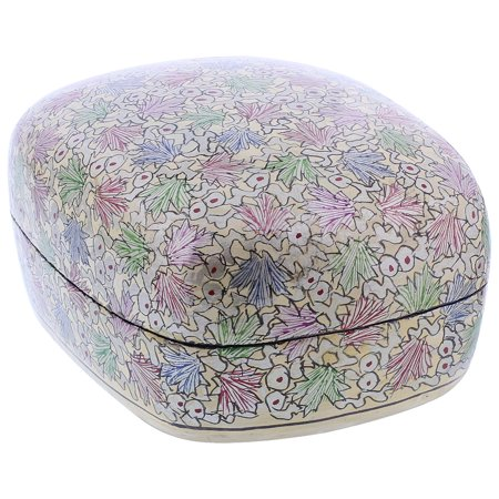 Gem Avenue Rustic Hand Painted Foliage Design Dome Jewelry Box