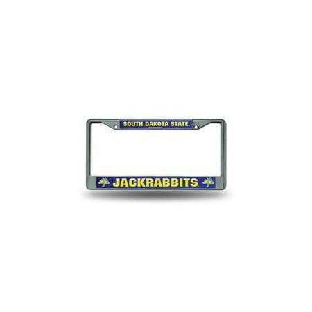 South Dakota State Jackrabbits NCAA Chrome Metal License Plate Frame ()