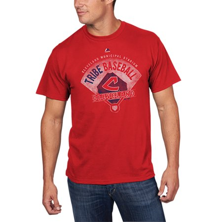 - Cleveland Indians Majestic Cooperstown Collection Strategic Advantage T-Shirt - Red
