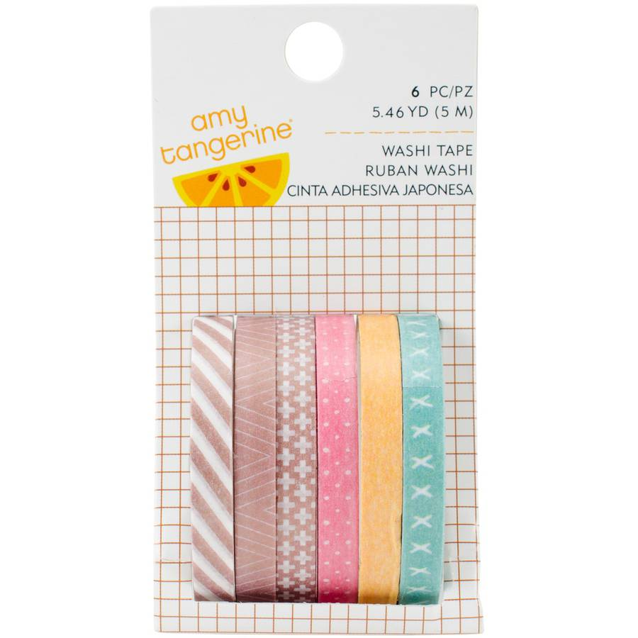 Amy Tan Finders Keepers Mini Washi Tape Rolls, 6pk, 32.8 Yards Total