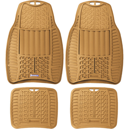 Michelin 4PC Rubber Mats, Tan
