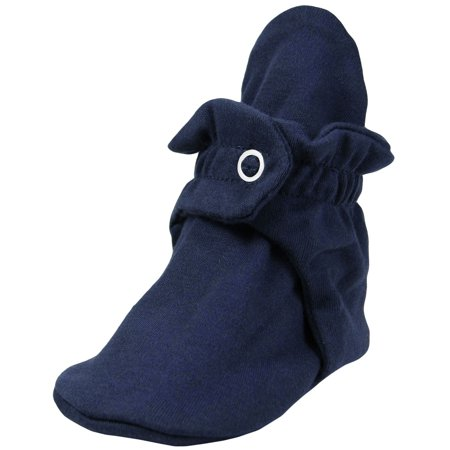 Zutano Booties - Zutano Booties Newborn Cotton Solid Color Unisex Baby Bootie Socks For Baby Boys or Baby Girls - Navy - 12 Months