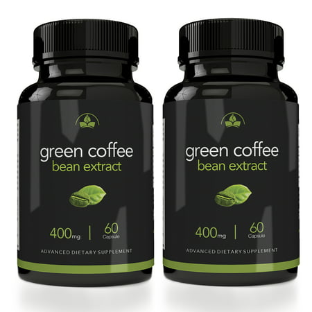 Totally Products Maximum Strength Green Coffee Bean Extract 400mg - 2 bottles X 60