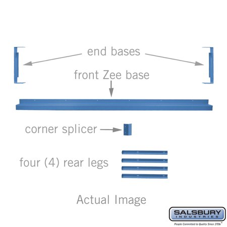 "Zee Base Kit - 4 Inches High, 6 Foot Length - for 15"" Deep Metal Lockers - Blue"