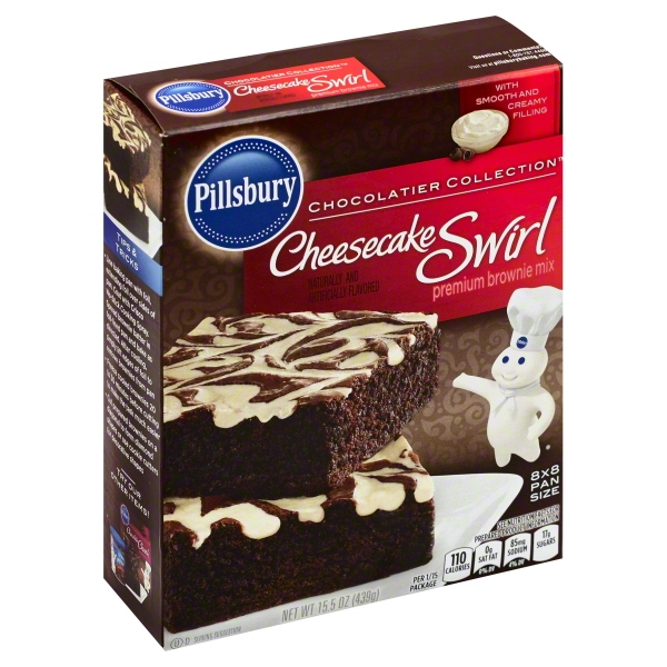 Pillsbury Chocolatier Collection Cheesecake Swirl Premium Brownie Mix 15.5 oz