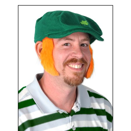 Beistle St Patrick's Day Fun Mutton Chops Pair Sideburns, Orange, One-Size 4
