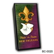 Caravelle Designs BC-0020 New Orleans Fleur de Mardi Gras