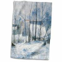 Symple Stuff Orta Winter Landscape, 1879 by Paul Gauguin, Impressionist Winter Scene Hand Towel