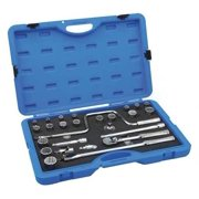 ARMSTRONG 15-520 Socket Set, 1/2 In Dr, Chrome, 26 pc