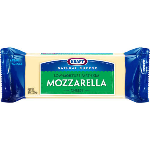 Kraft Natural Mozzarella Cheese Chunk, 8 oz