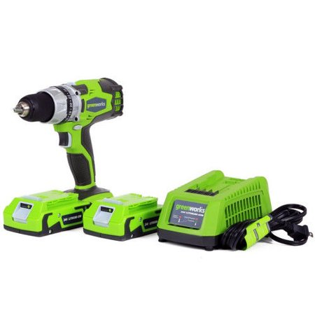 Greenworks 32032 24V Cordless Lithium-Ion DigiPro 2-Speed Compact Drill