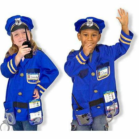 Melissa   Doug Police Officer Role Play Costume Dress Up Set  8 Pcs