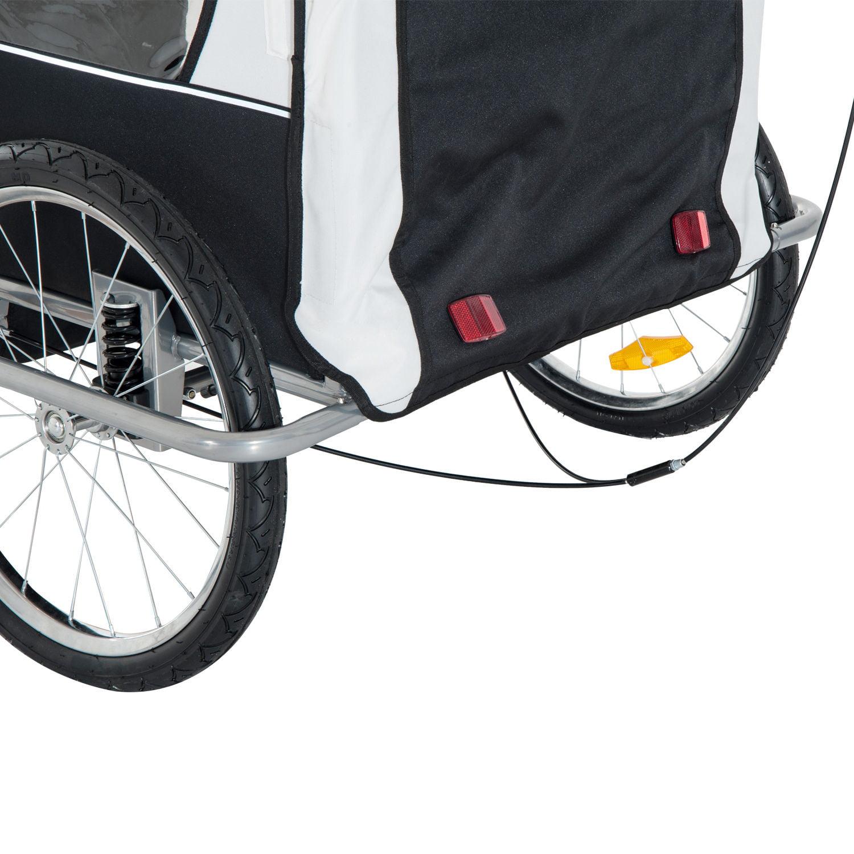 b2955f175b6 Aosom Elite II 3in1 Double Child Bike Trailer, Stroller & Jogger ?White -  Walmart.com