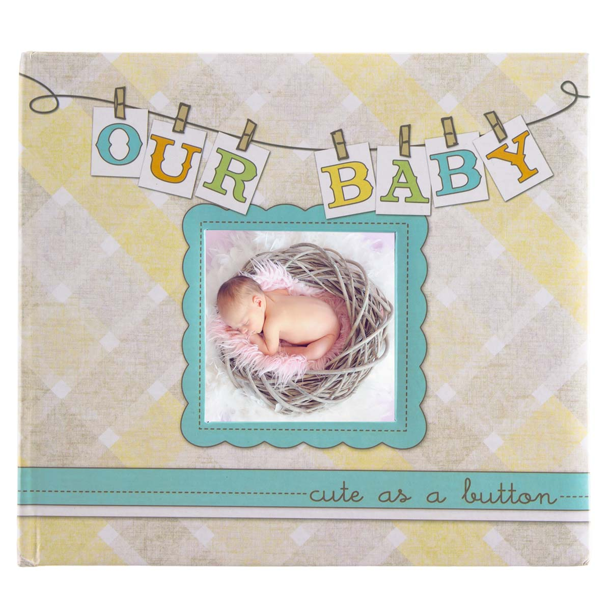 "New View Gifts ""Our Baby"" Hardcover Personalized Photo Album & Memory Book For Infants Boy Or Girl"