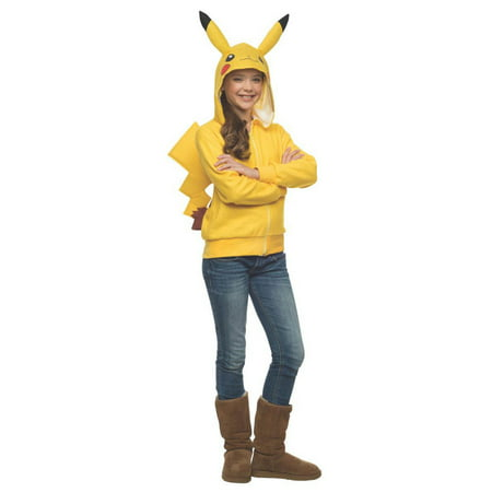 Pokemon - Pikachu Hoodie with Tail - Tween Costume