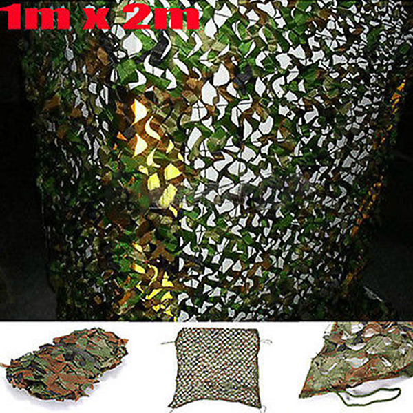 """MATCC 1mx2m 39x78"""" Woodland Camouflage Camo Net Cover Outdoor Hunting Shooting Camping Army Military Photography... by"""
