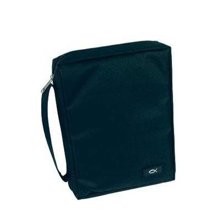 Bible Cover-Durable Polyester-Large-Black