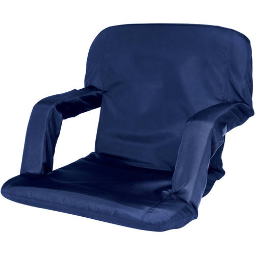 Cascade Mountain Tech Portable Reclining Stadium Seat, Black
