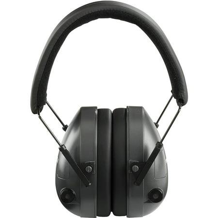 Champion Traps and Targets 21db NRR Electronic Earmuffs, Plastic, Black