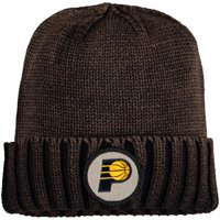 Indiana Pacers Mitchell & Ness Current Logo Ribbed Knit Hat - Brown - OSFA