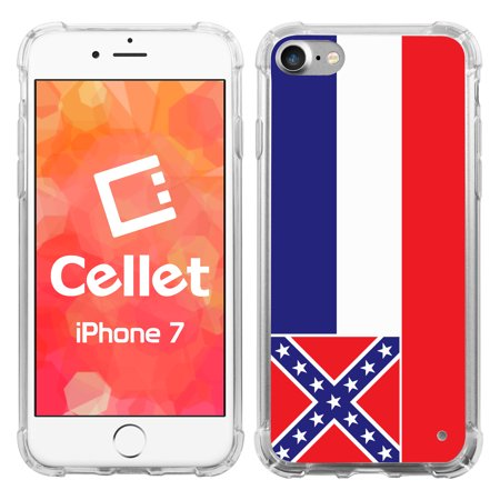 Cellet TPU / PC Proguard Case with Mississippi Flag for iPhone 7 / 8 (Mississippi Pc)