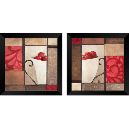 PTM Images Cherry Modern 2 Piece Framed Graphic Art Set