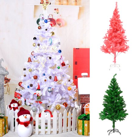 Moaere 83''X47'' Artificial Christmas Pine Tree Festive Holiday Decor with Sturdy Metal Stand ()