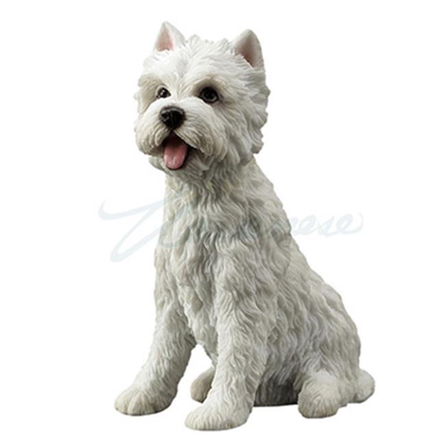 Unicorn Studios WU76871AA West Highland Terrier Westie Puppy Sitting Dog Mini Figurine - White - image 1 of 1