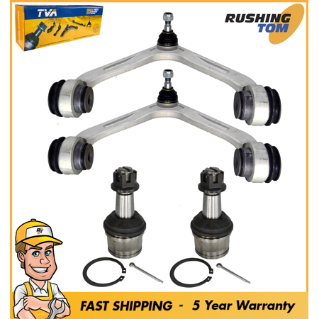 2 Front Upper Control Arms & 2 Lower Ball Joint Fits 03-05 Dodge Ram 2500