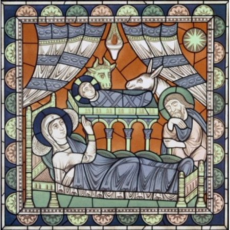The Nativity 12th Century Stained Glass Chartres Cathedral France Canvas Art -  (18 x 24)](Stained Glass Nativity)