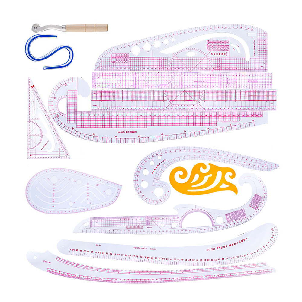 Plastic Sewing Square Curve Ruler Tailor Drawing Craft Tool DIY Supply Tool JERKKY Sewing Ruler