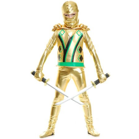 Ninja Avenger Costume (Gold Ninja Avenger Series III With Armor Costume for)