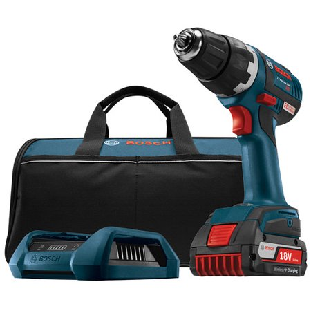 Bosch DDS182WC-102 18V 2.0 Ah Cordless Lithium-Ion 1/2 in. Brushless Drill Driver Wireless Kit