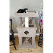 New Cat Condos 58`` Premier Solid Wood Cat Play Gym