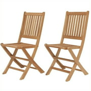International Home Miami Amazonia Teak Set of 2 London Folding Chair