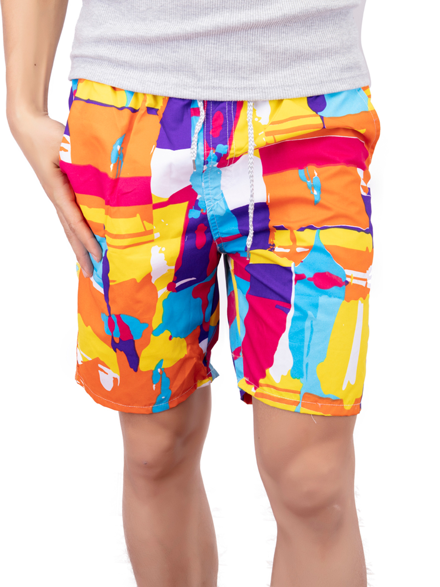 Rainbow Horses Shorts Quick-Dry, Comfort Men /& Boys Big for Breathable Swim Trunks Half Pants for Beach Outdoor Hiking
